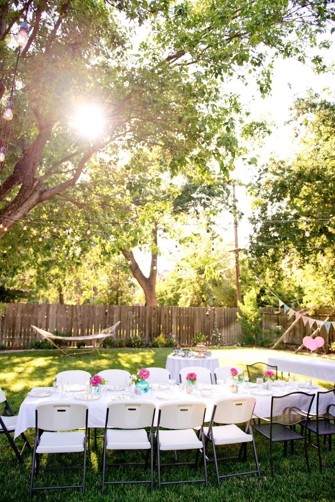 Domestic Fashionista Backyard Birthday Fun Pink