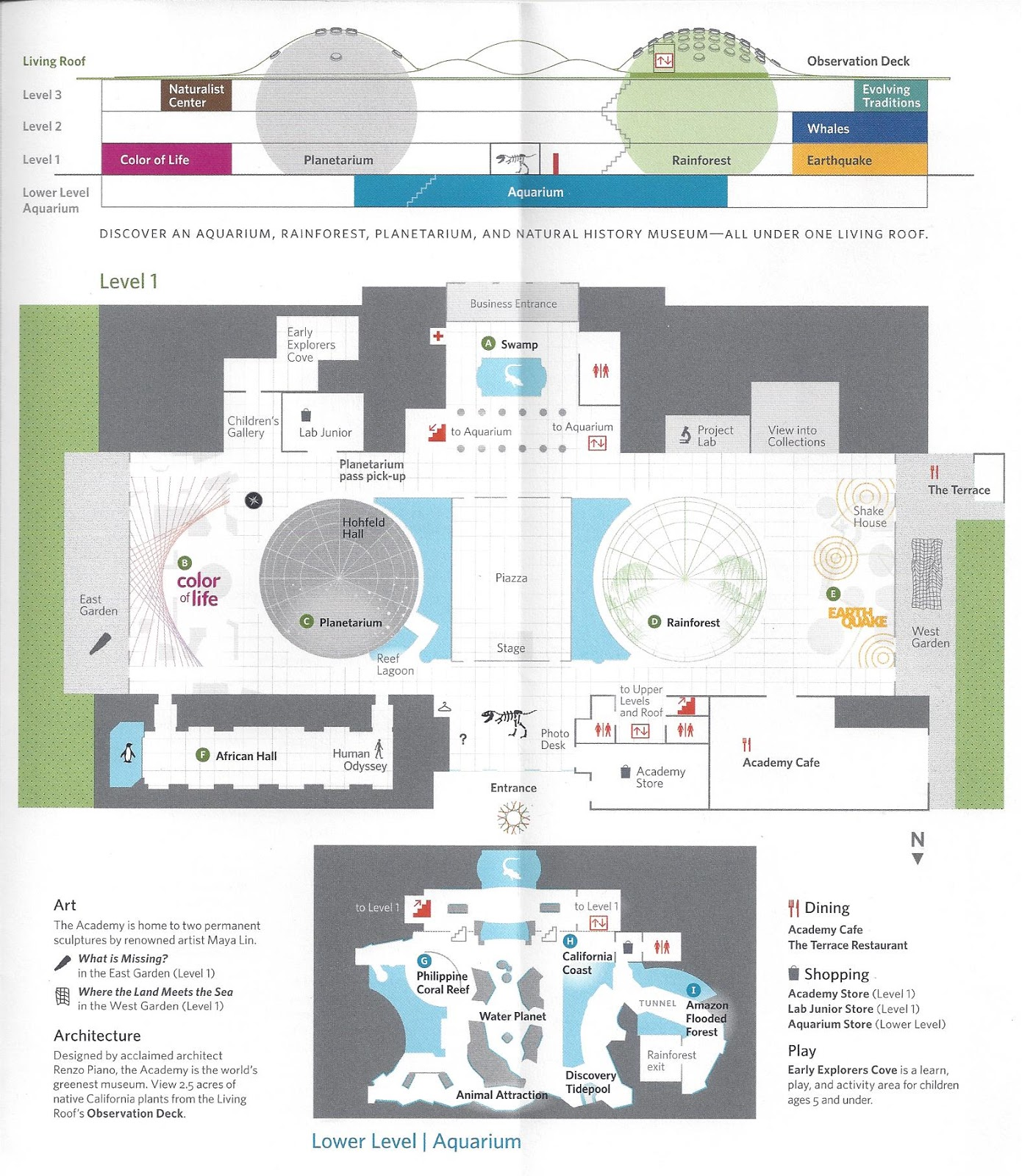Efficiency Floor Plans Spend A Day At The California Academy Of Sciences