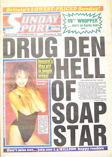 Sunday Sport front cover from 8th November 1987