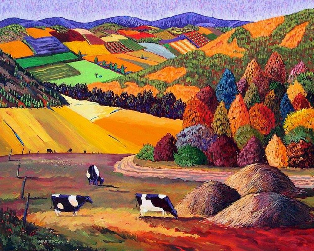 Im genes arte pinturas la fuerza del color en los - Paisaje con colores calidos ...