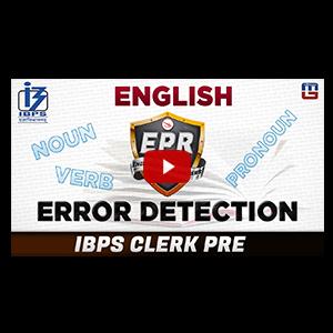 Error Detection | English Power Rangers (EPR) | IBPS CLERK PRE 2017