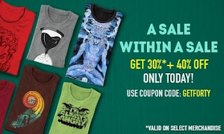 Get 30% Off + Extra 40% Off Men's T-Shirts (Sitewide) & Get A Surprise Tee FREE On Orders Above 1000 @ Voxpop