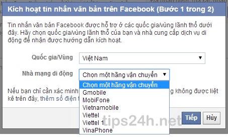 Xác minh tài khoản Facebook bằng điện thoại