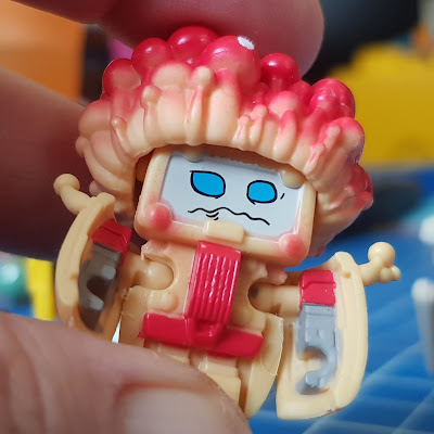 Transformers BotBots review character Fun Gus fungus robot transformed