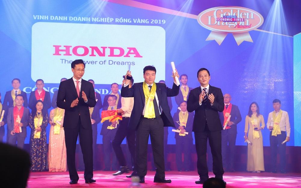 Honda Việt Nam nhận giải thưởng Rồng Vàng 2019