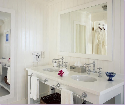 Floor To Ceiling Beadboard In Bathroom: Cottage Bathroom~Inspirations
