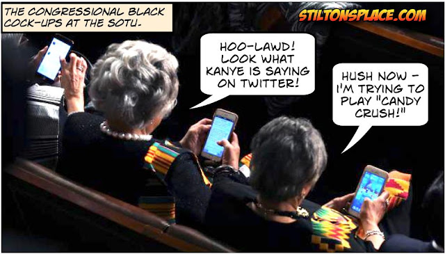 stilton's place, stilton, political, humor, conservative, cartoons, jokes, hope n' change, SOTU, congressional black congress, candy crush, assholes