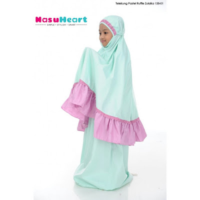Telekung Pastel Ruffle Zulaika - SOLD OUT