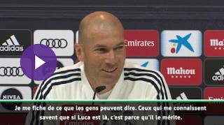"""Zidane défend son fils Luca : ''Il mérite d'être là !"""""""