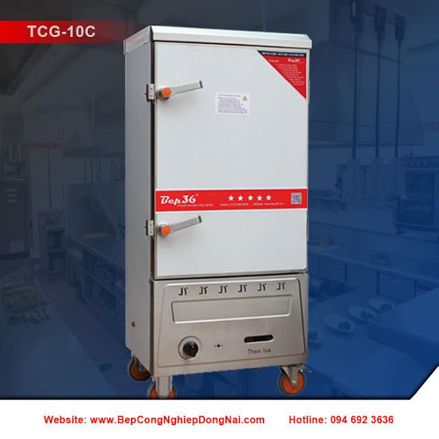 Tủ nấu cơm công nghiệp 10 khay dùng gas TCG-10C