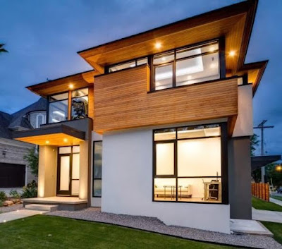 model teras rumah minimalis 2 lantai
