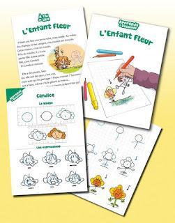 L'Enfant Fleur: une deuxième partie ludique, pour apprendre à dessiner