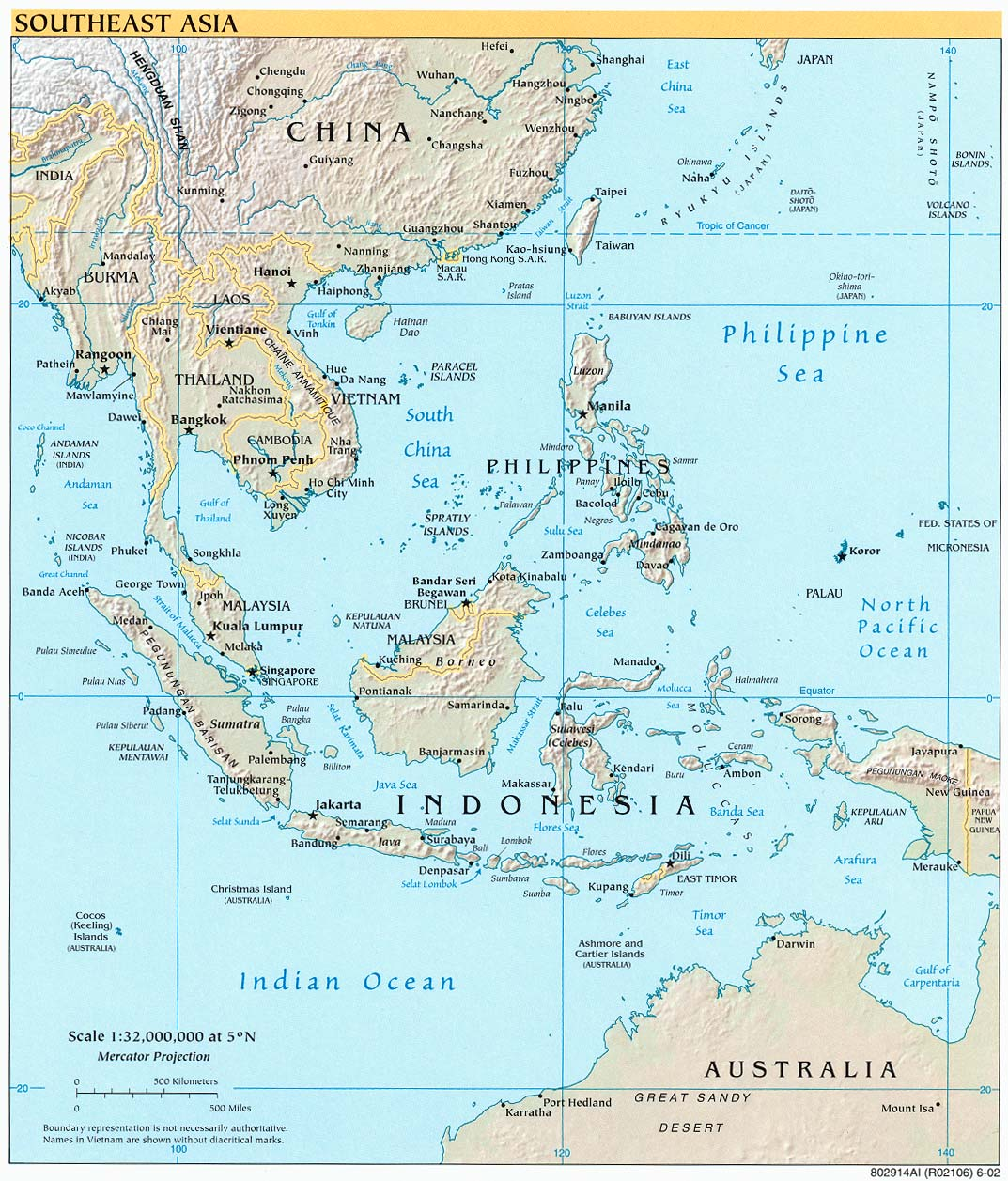 Online Maps Southeast Asia Physical Map