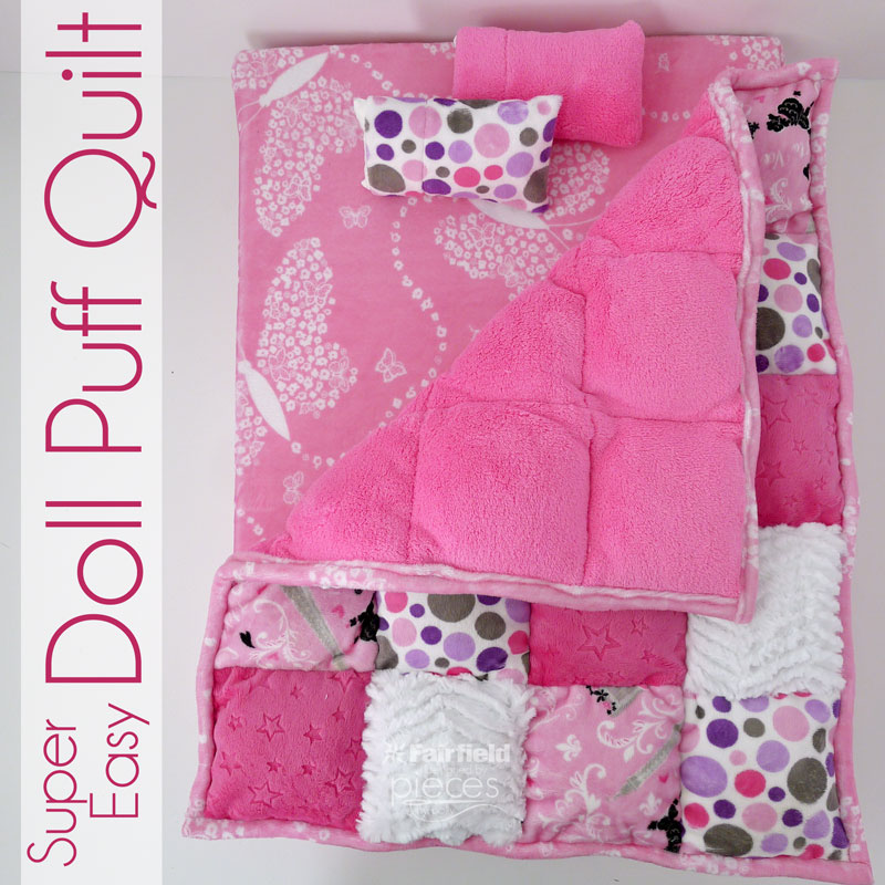 Pieces By Polly Super Easy Doll Puff Quilt Unique How To Make A Puff Quilt With Sewing Machine