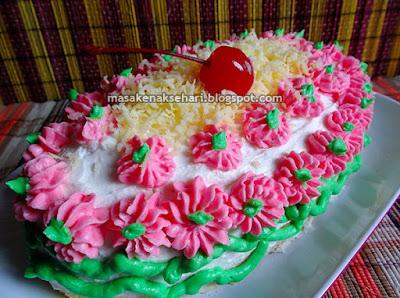 Resep Cake Kukus dengan Butter Cream Lembut