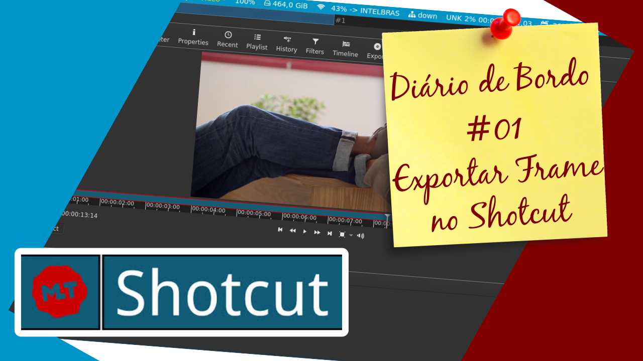 Exportando Frame no ShotcutDiário de Bordo - #01