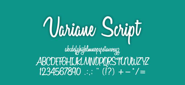 Kumpulan FontUndangan - Variane Script Font