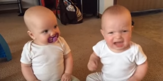 A video of twin baby girls fighting for the sole pacifier in the room is sweeping the Internet.   There are two cute baby girls and alas, one purple pacifier. One of them is seen enjoying it till the other one sees and plucks it, setting off a mighty duel.