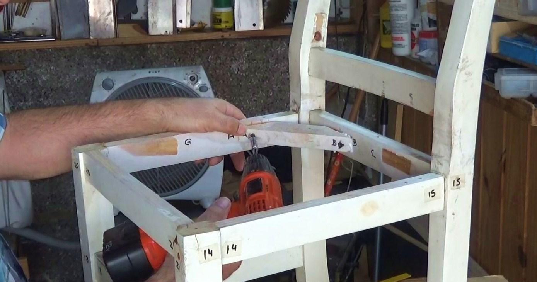 Como reparar una silla de madera - Como arreglar el asiento de una silla ...
