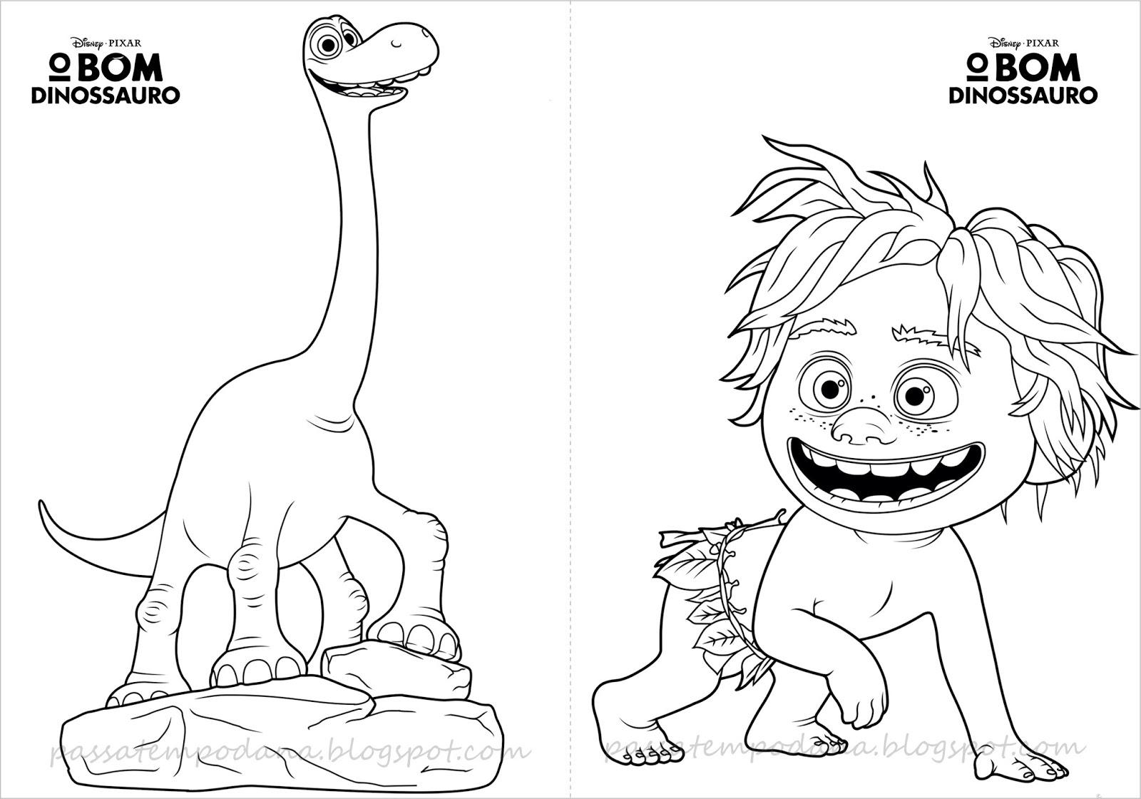 Passatempo Da Ana: Livrinho Para Colorir: O Bom Dinossauro
