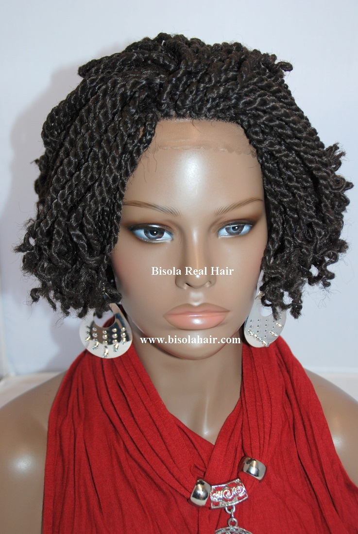 Bisola Hair Braided Full Lace Wigs Hand Tied Bleach