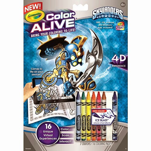 of skylanders inspired crayola color alive coloring books fans of the
