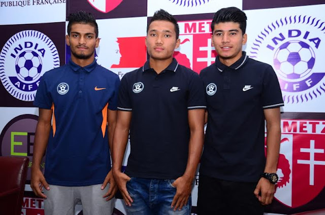 FC Metz training for 3 Indian youngsters