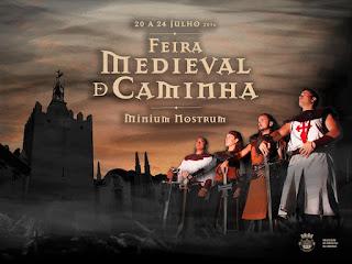 Cartaz da feira medieval de caminha 2016