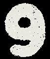 数字のペンキ文字「9」