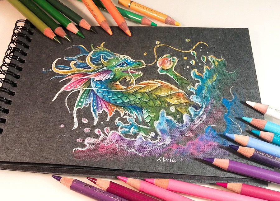 16-Splash-of-Colors-Alvia-Alcedo-Dragons-and-other-Mythical-Magical-Creatures-in-Fantasy-Drawings-www-designstack-co