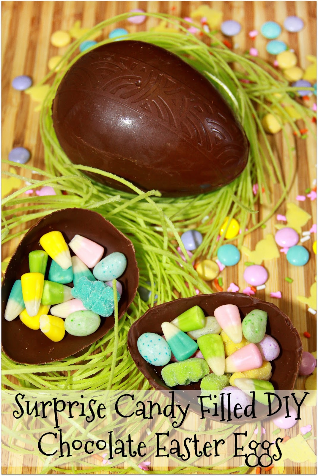 Easter Candy Eggs: For The Love Of Food: Surprise Candy Filled DIY Chocolate