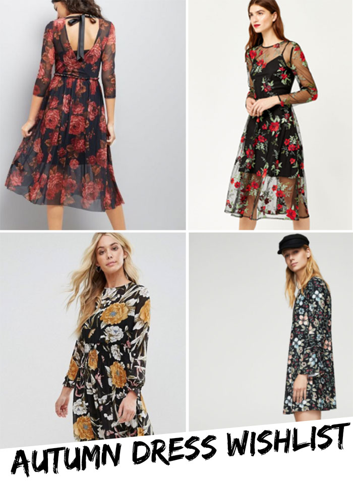 AUTUMN DRESS WISHLIST // LAUREN ROSE STYLE// FASHION BLOGGER LONDON