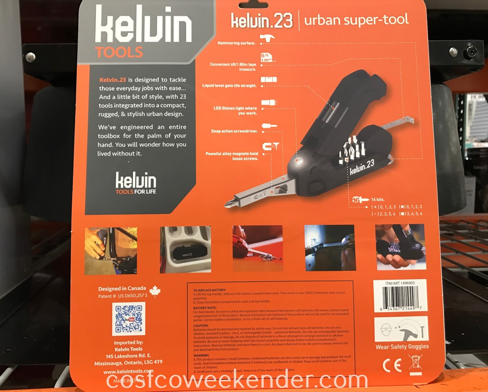 Costco 1496903 - Kelvin.23 Urban Super Tool: perfect for your house, condo, apartment, dorm room, RV and glovebox