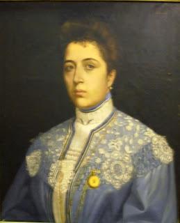 η προσωπογραφία της Στάμως Μίχα (έργο Νέστορα Βαρβέρη) στο Βιομηχανικό Μουσείο της Ερμούπολης