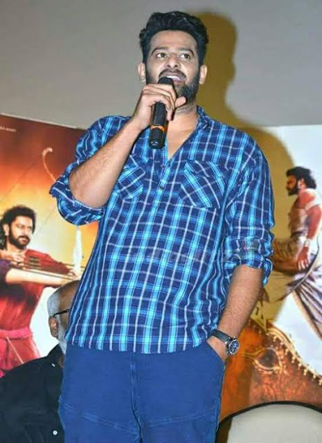 Prabhas' sports a new look at Baahubali - The Conclusion trailer launch