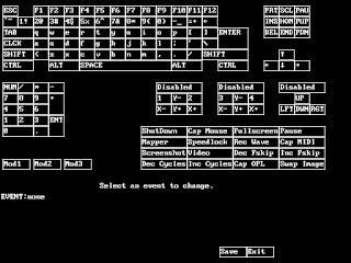 Distribución teclado DOSBox