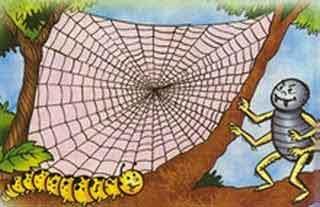 Fábula: El gusano de seda y la araña
