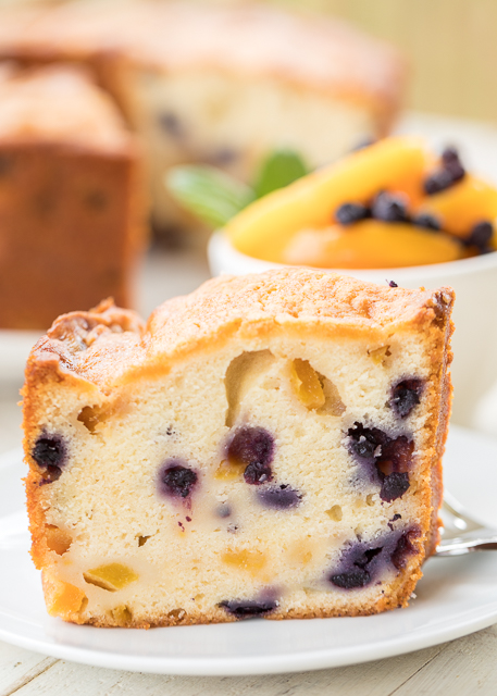 Peach And Blueberry Pound Cake Plain Chicken