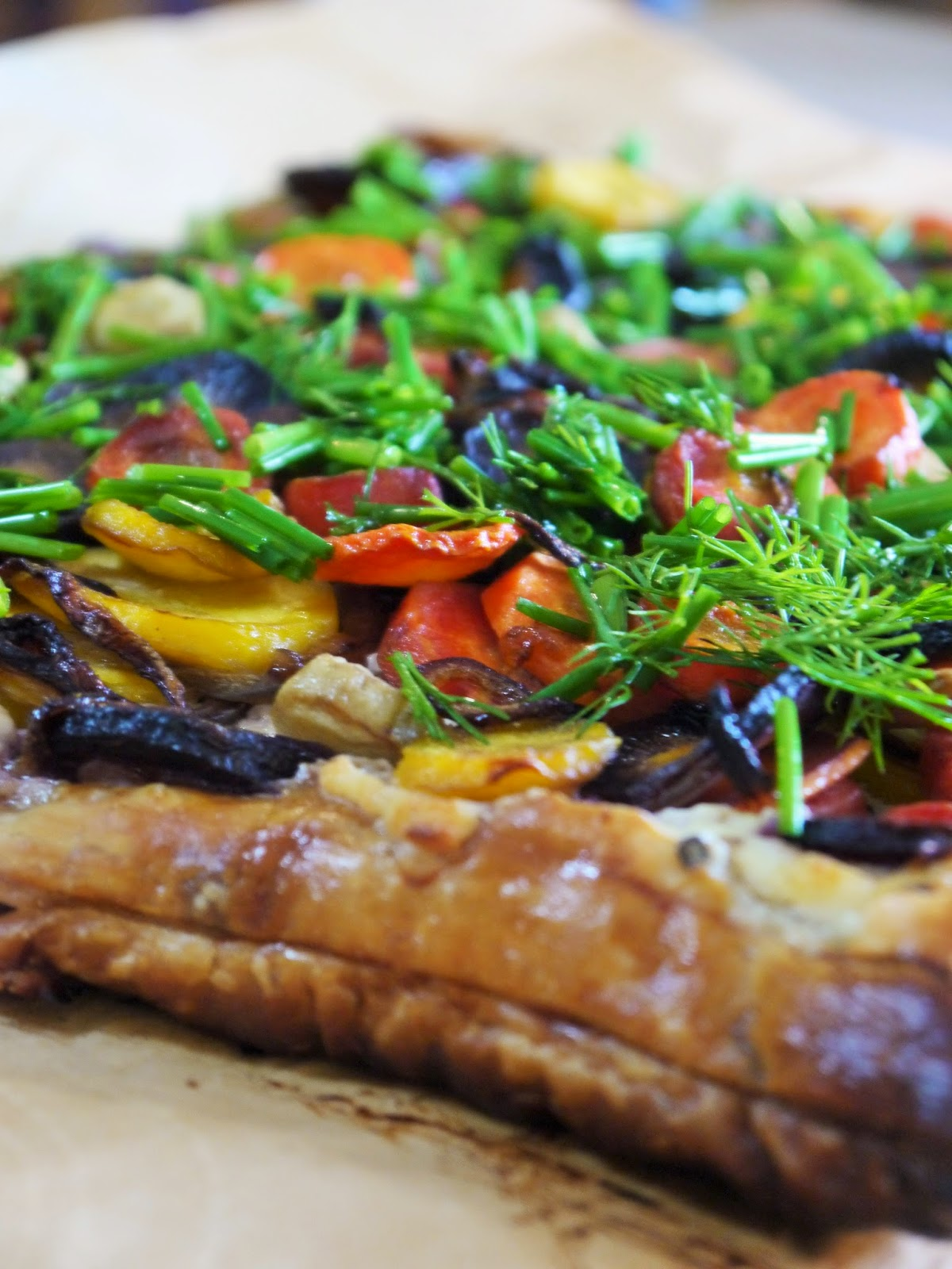 carrot herb tart