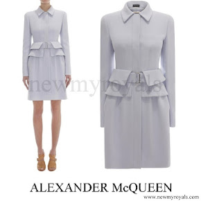 Kate Middleton wore Alexander McQueen Utility Peplum Coat Dress