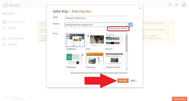 Tutorial Cara Mendaftar Ke Layanan Blogspot