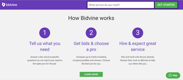 Looking for Trusted Local Professionals? Hire Now With Bidvine
