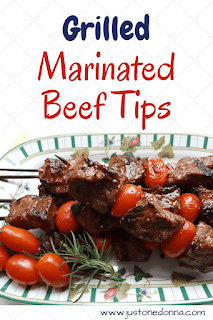 Grilled Marinated Beef Tips