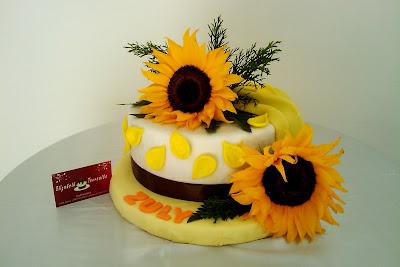 Tortas Y Pasteles Bianca Pastel Torta Arreglo Girasoles