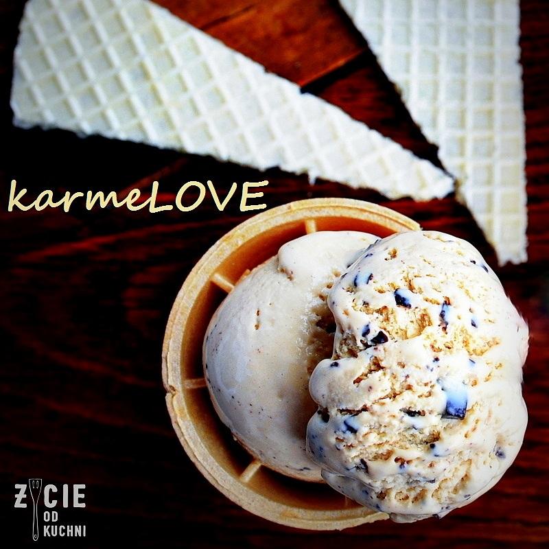 lody karmelowe, lody, lody domowe, kajmak, karmel, lodowy deser, czekolada, deser, zycie od kuchni