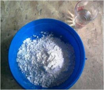 Plaster of Paris and Water