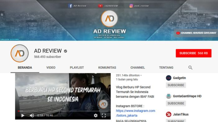 AD Review - Youtuber