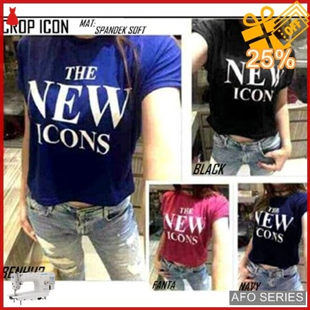 AFO734 Model Fashion Crop Icon Modis Murah BMGShop