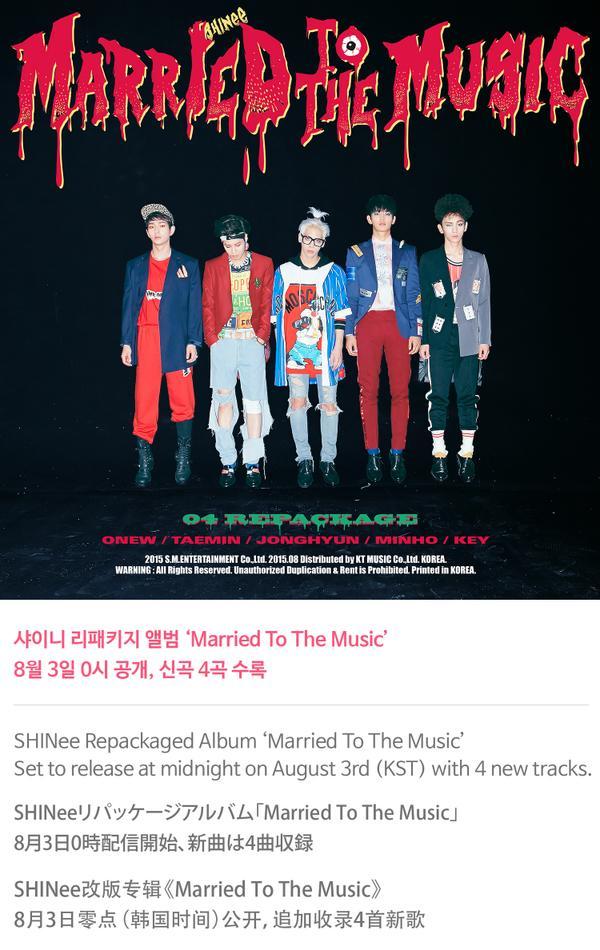 MYShawols (MSW): [PHOTO/INFO] 150729 SHINee 4th Album Repackage