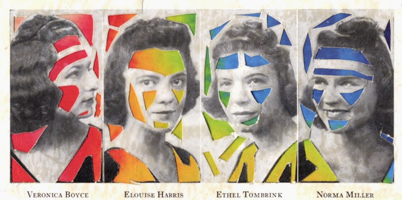 collage art using yearbook photos